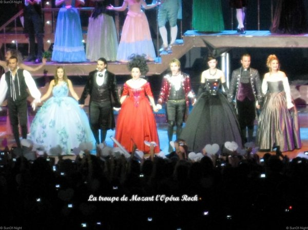 Mozart L'Opéra Rock, Bercy le 10 juillet 2011