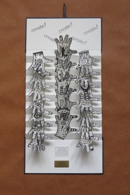 Hanging Book - Hands 2014