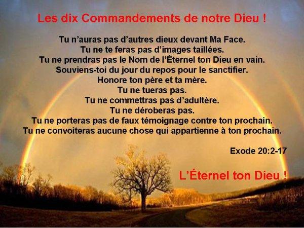 les dix commandements de dieu ma vie ma foi