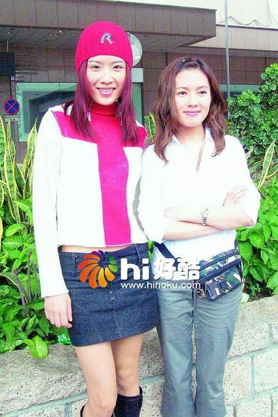 Loletta Lee et Pinky Cheung sur le tournage de TROUBLESOME BUDDY