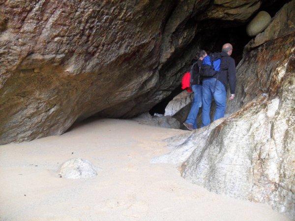 la sortie de la fameuse grotte et otres découvertes