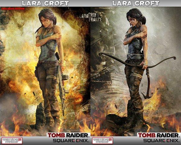Deux versions pour la statue Lara Croft 50 cm