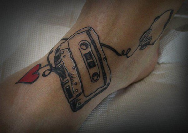 tatouage cheville