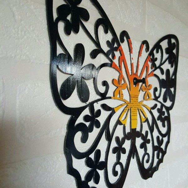Papillon en disque vinyle