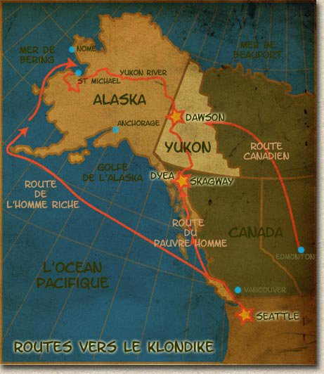 La ruée vers l'or du Klondike