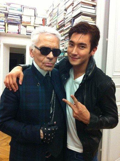 Siwon (Super Junior) a posé pour Karl Lagerfeld