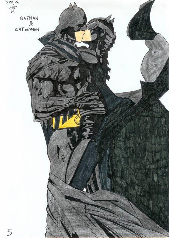 Batman accompagné de Catwoman