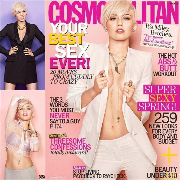 Miley Cyrus Cosmopolitan March 2013 Cover Shoot (Behind The Scenes)