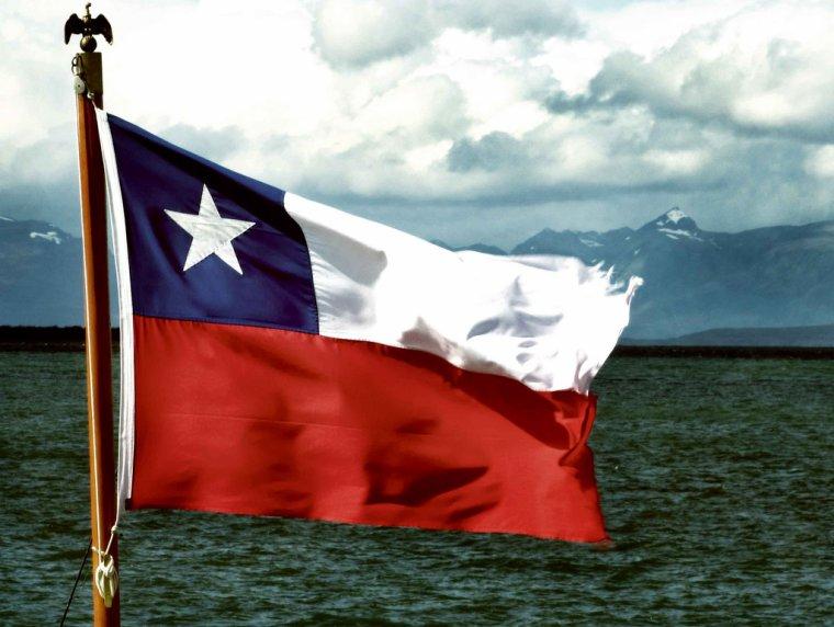 Les trois couleurs chiliennes.
