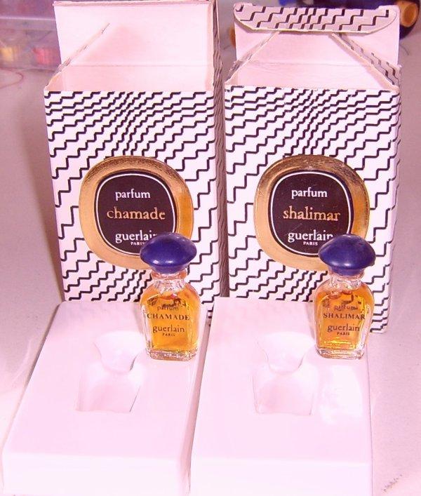 2 miniatures guerlain disponibles : bouchons bleu vissé ou clipsé