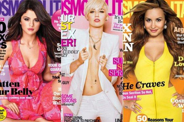 Magasine Selena Gomez, Miley Cyrus et Demi Lovato