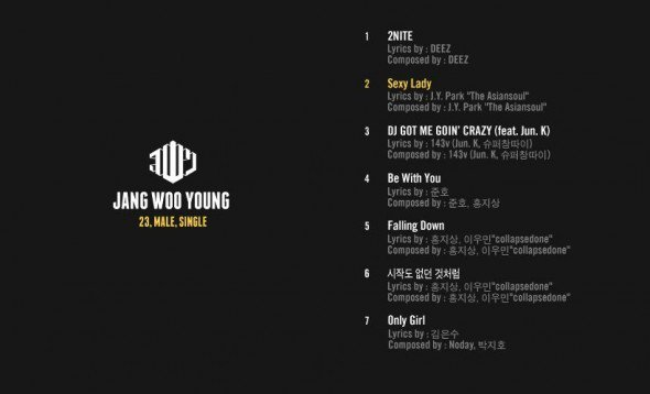 Wooyoung (2PM) révèle les photos concept et la tracklist de « 23, MALE, SINGLE »