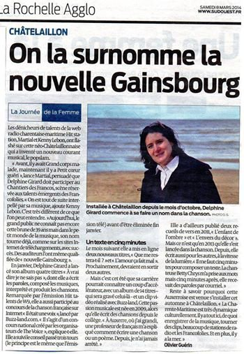 On la surnomme la nouvelle gainsbourg
