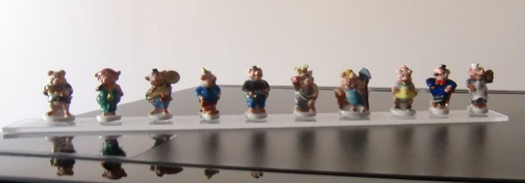 Série complète de 10 fèves - UN METIER DE COCHON 2014