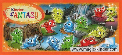 "Kinder Fantasy "" Créatures fantastiques "" (DE001 à DE006)"