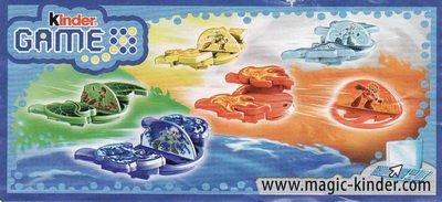 """Kinder Game """" Lanceurs """" (DE060 à DE064)"""