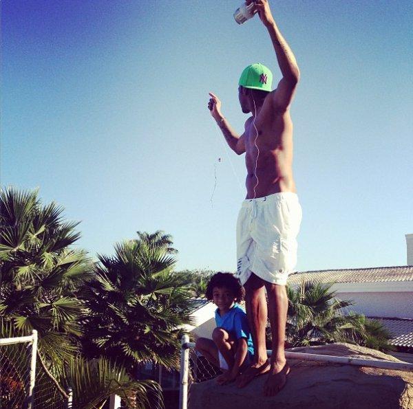 robinho et son fils