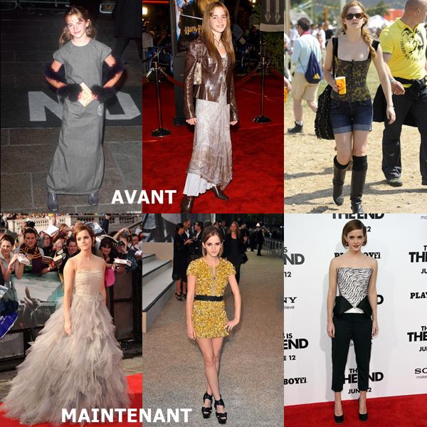 Emma Watson alias Hermione Granger à bien changé !! Quelle est votre coupe de cheveux favorite ?