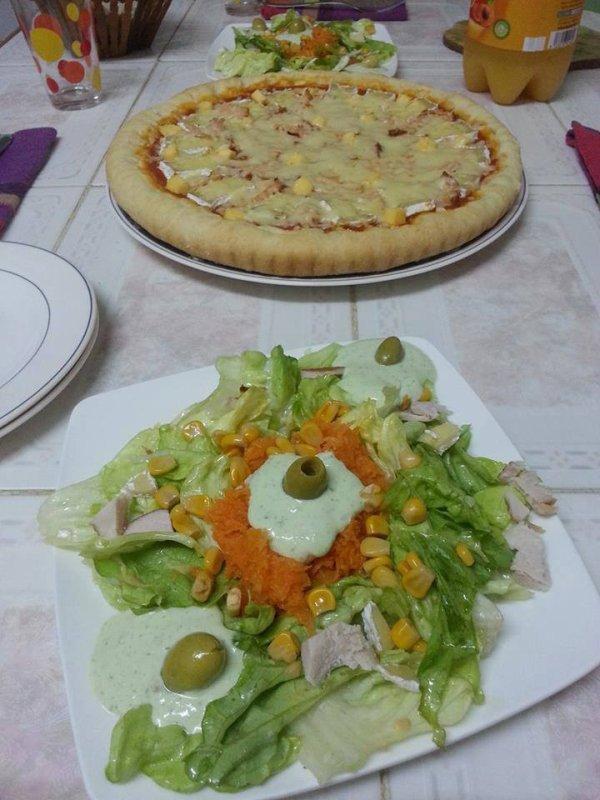 holala avec la salad qui belle