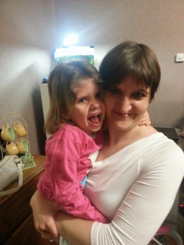 moi et ma fille que j aime
