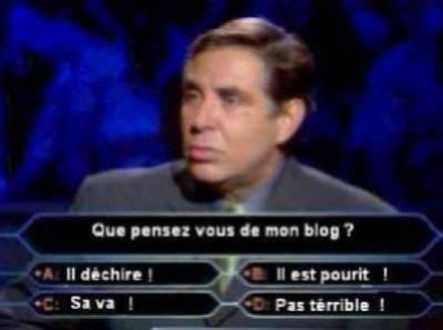 question pour 1millions deuros!!!!!!!!!!!