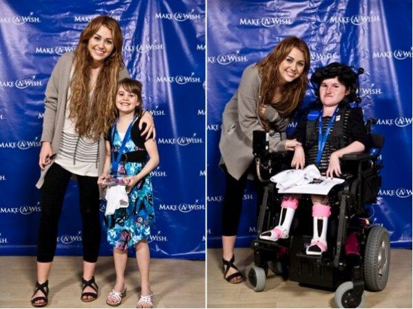 Miley au concert de Dolly Parton. 2 photo personelles + Starkey Hearing Gala - le 23 juillet 2011 ( désoler pour la qualité d'image ) et rencontre avec des enfants avec Make-A-Wish – avril 2011