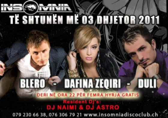 DAFINA ZEQIRI me 3.Dhjetor 2011 Ne Insonomia !! :)