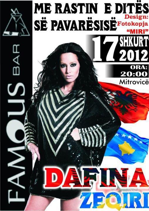 Dafina Zeqiri me 17.Shkurt 2012 Koncert ne Mitrovis me rastin e dites se Pavaresise !!