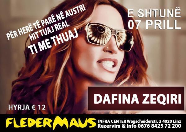 Dafina Zeqiri per her te pare Koncert ne Austri ! E shtune 7.Prill !!