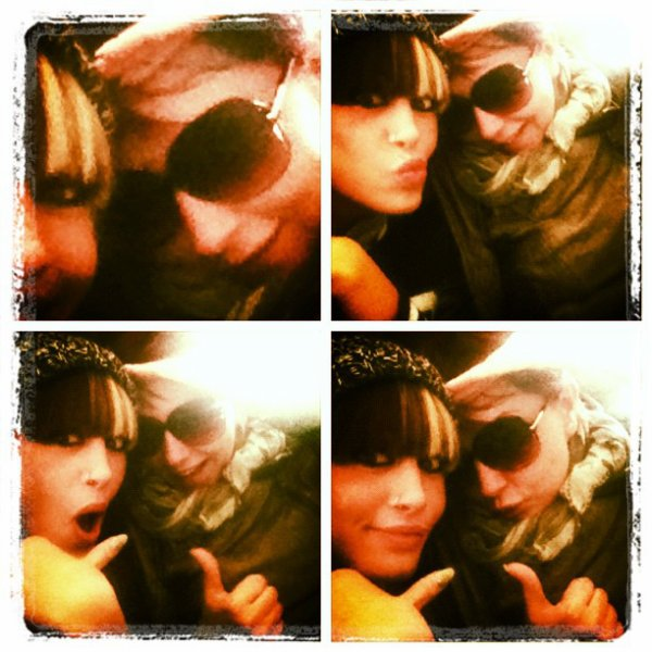 Me & my cuz, Teuta Selimi havin our moment in the Airplane back to PR CiTEY!