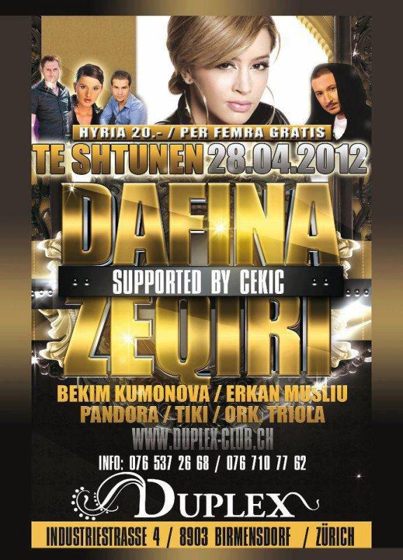 Dafina me 28.4.2012 Koncert Ne Duplex ne Zvicer !!!