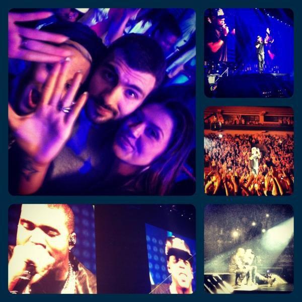 Dafina,Ledri&Tringa Ne Koncertin e Kanye West dhe Jay Z