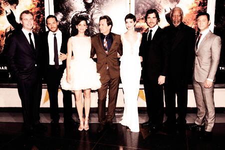 ●●Marion à l'avant première du film The Dark Knight Rises