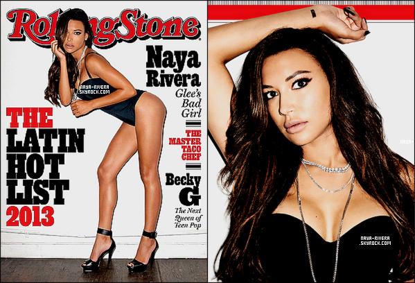 . 7/11/2013 :Naya et sa jolie tenue de lutin étaient sur le tournage de la saison 5 de Glee ce 7 Nov. Le tournage de l'épiosde de Nöel pour la saison 5 de Glee a commencé, il sera diffusé pendant les périodes de fêtes aux Etats-Unis. + Notre belle Naya Rivera fait la couverture du mois de Novembre du magazine Rolling Stone qui lui a consacré une double-page. .