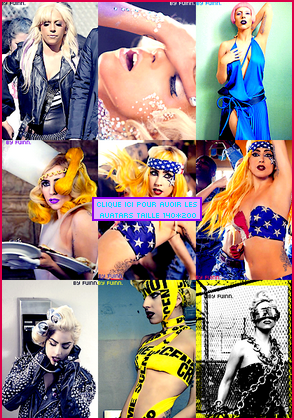 9 avatars Lady Gaga