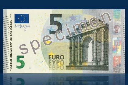 Voici le nouveau billet de 5 euros