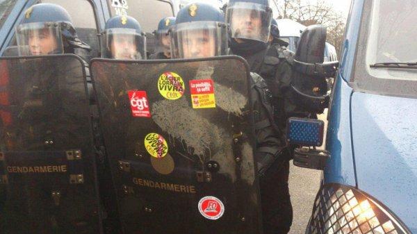 """Les """"Mittal"""" empêchés de manifester à Strasbourg"""
