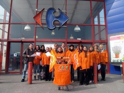 Les salariés de Carrefour en grève