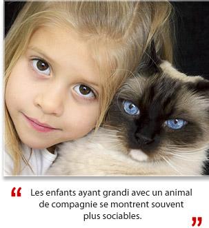 Enfant + Animal = Sociabilité