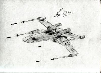 X wing mes dessins - Vaisseau star wars coloriage ...