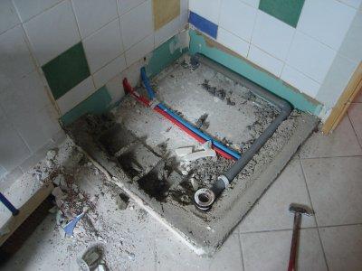 enlèvement du bac de douche - notre maison, nos travaux