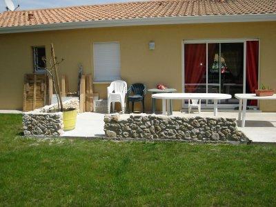 muret terrasse 3 me partie fini notre maison nos travaux. Black Bedroom Furniture Sets. Home Design Ideas