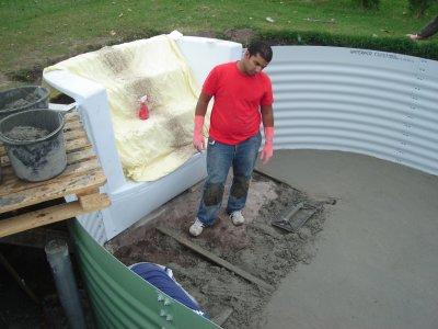 piscine chape maigre notre maison nos travaux. Black Bedroom Furniture Sets. Home Design Ideas