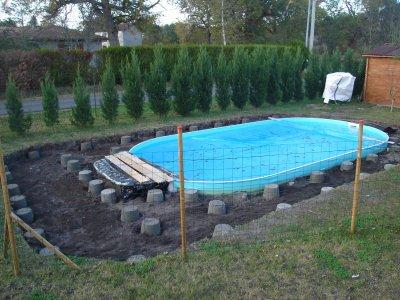 Piscine pr paration terrasse piscine notre maison nos - Preparation accouchement piscine ...