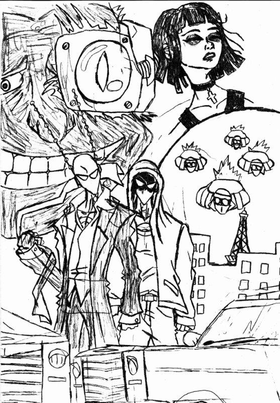 couverture galactik man episode 1 noir et blanc
