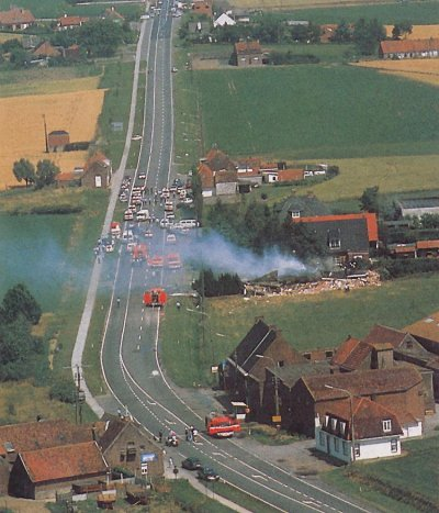 06-07-1989 - Un avion Russe sans pilote tue un jeune homme de 19 ans en Belgique - entre Courtrai - Tournai