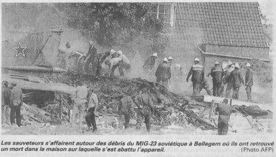 06-07-1989 - Accident grave à 8510 Kooigem Bellegem, un avion s'écrase sur une maison en Belgique - entre Courtrai - Tournai