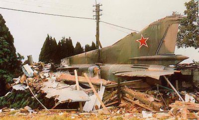 06-07-1989 - Mig23 - Avion accident - Belgique - entre Courtrai - Tournai à 8510 Kooigem Bellegem