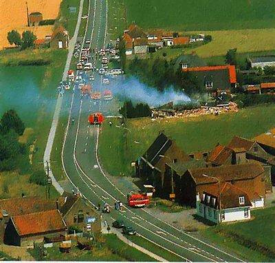 06-07-1989 - Accident avion sans pilote - Belgique - entre Courtrai - Tournai  et tue un jeune homme à Bellegem.