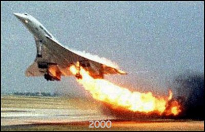 25-07-2000 - France - Gonesse - Accident Avion - Concorde - Fin de vol pour le Concorde.